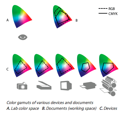 Color Gamuts For Varying Devices