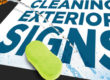 Cleaning Exterior Signs