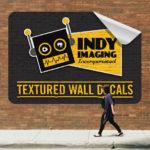 15-textured wall decal square