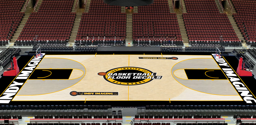 Basketball Floor Decals