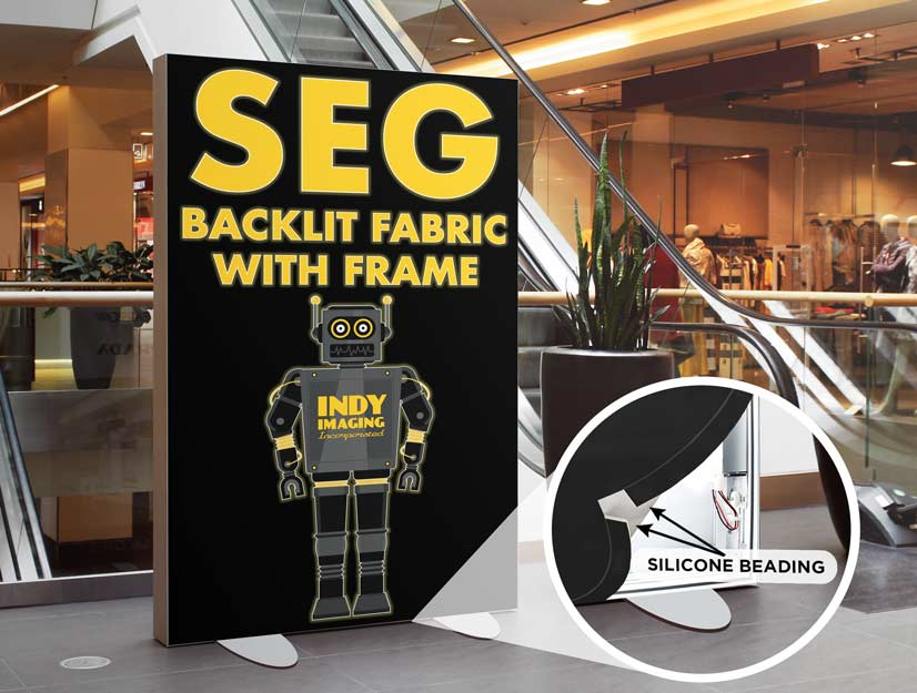 SEG Backlit Fabric With Frame
