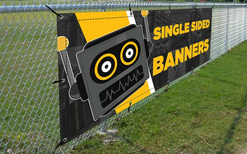Single Sided Vinyl Banners