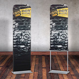 Fabric Pillowcase Banner Stands