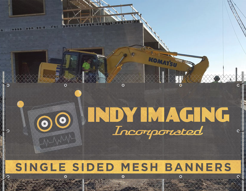 Single Sided Mesh Banners